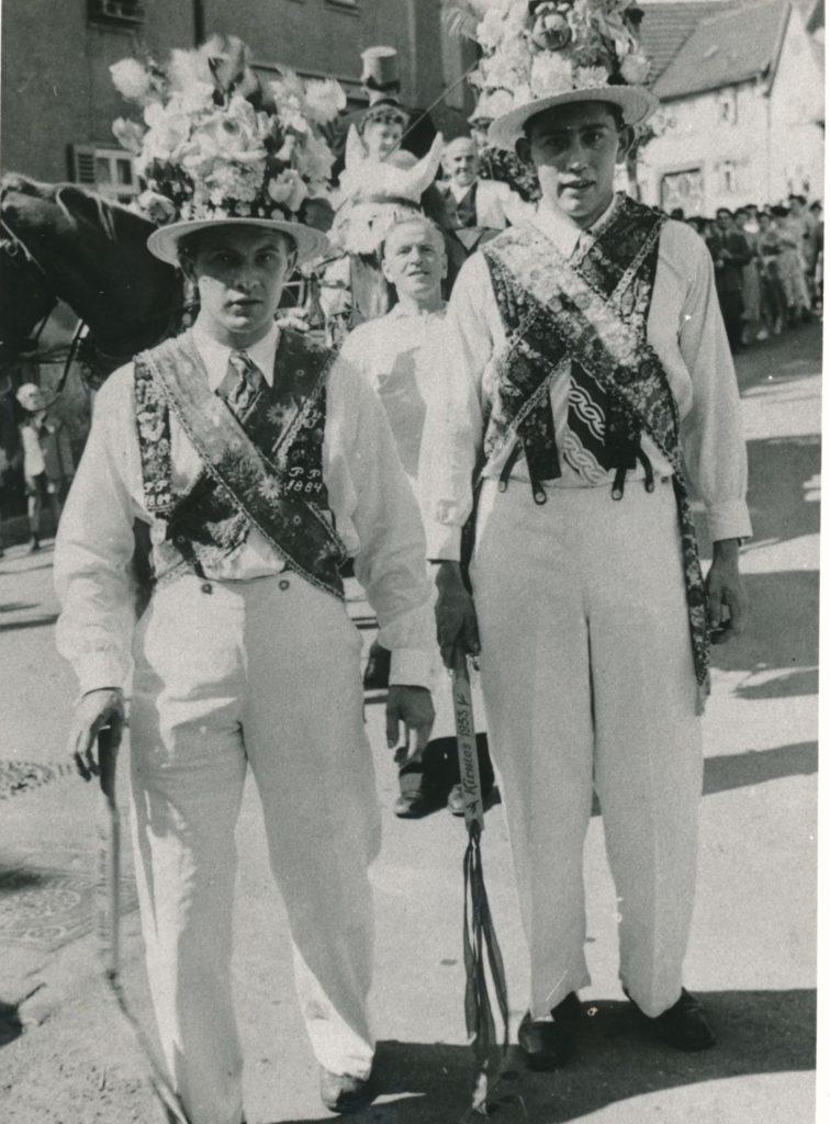 Kirmesburschen 1953, Willi Damm und Ewald Lauber