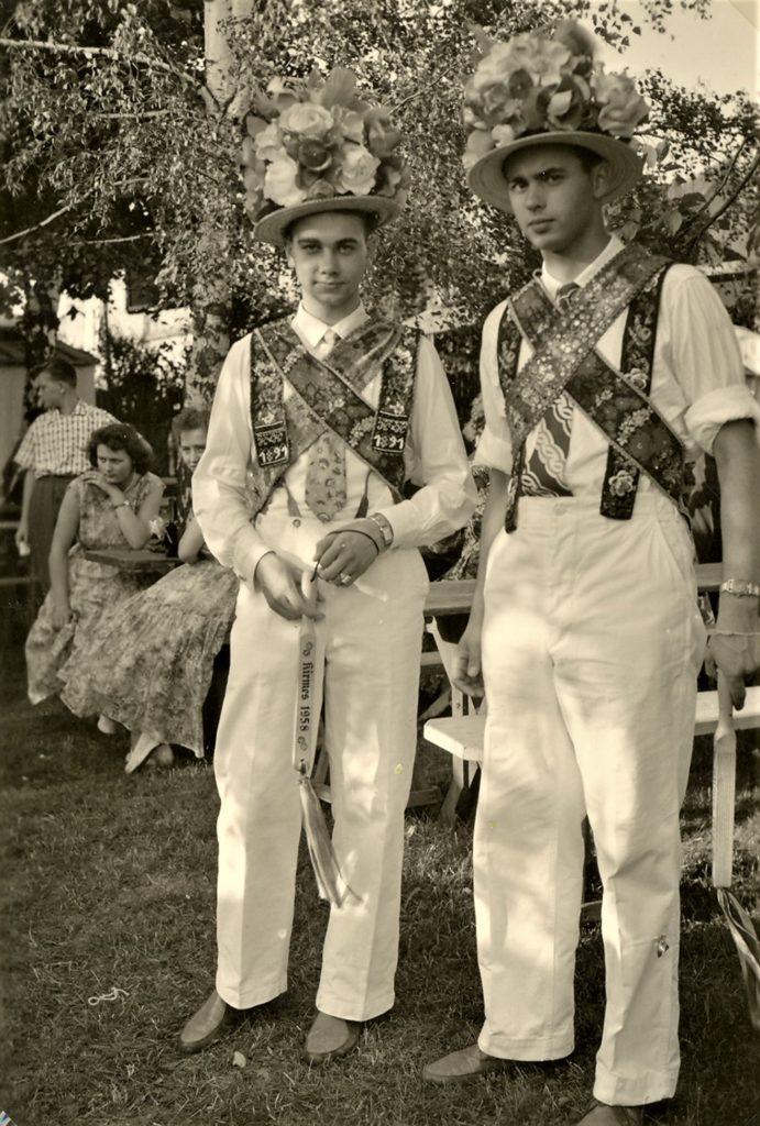 Kirmesburschen 1958, Herbert Seipp und H.L.Weinandt